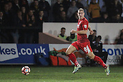 Adam Priestley of Alfreton Town during the The FA Cup match between Newport County and Alfreton Town at Rodney Parade, Newport, Wales on 15 November 2016. Photo by Andrew Lewis.