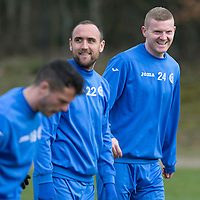 St Johnstone Training...20.03.15<br /> Brian Easton pictured in training this morning at McDiarmid Park ahead of tomorrow's game against St Mirren...<br /> Picture by Graeme Hart.<br /> Copyright Perthshire Picture Agency<br /> Tel: 01738 623350  Mobile: 07990 594431