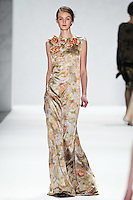 Andie Arthur walks down runway for F2012 Tadashi Shoji's collection in Mercedes Benz fashion week in New York on Feb 9, 2012 NYC
