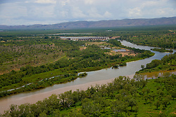 The Diversion Dam in Kununurra is part of the east Kimberley's Ord Irrigation scheme.
