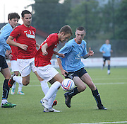 Tay port's Cammy Black and Dundee's Ryan Gemmell - Tayport v Dundee XI - pre-season friendly at the GA Arena <br /> <br />  - &copy; David Young - www.davidyoungphoto.co.uk - email: davidyoungphoto@gmail.com