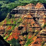 This aerial photo of Wameia Canyon was taken on the north western side of the island of Kauai. The mix of color, the jagged lines and shapes in these canyons are nothing short of amazing!