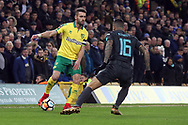 Ivo Pinto of Norwich and Kenedy of Chelsea in action during the FA Cup match at Carrow Road, Norwich<br /> Picture by Paul Chesterton/Focus Images Ltd +44 7904 640267<br /> 06/01/2018