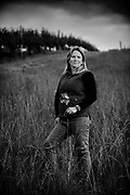 Portrait of Winemaker Wynne Peterson-Nedry taken by Kathryn Elsesser Photography for 00 Wine at Hyland Vineyard.
