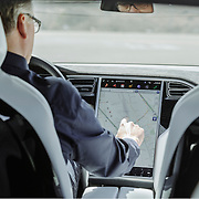 Dirk Kunde test driving the Tesla Model X, Fremont, CA | Lufthansa Magazine