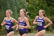 Washington Huskies runners (from left) Shona McCulloch, Katie Rainsberger, and Allie Schadler compete in the women's 3 mile run at the UW/Seattle University Open at Warren G. Magnuson Park, Friday, Aug. 30, 2019, in Seattle. (Paul Merca/Image of Sport)