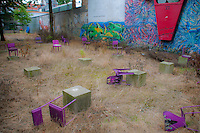 Vacant lot public art in Antwerp, Belgium