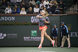 March 9, 2019 - Indian Wells, CA, U.S. - INDIAN WELLS, CA - MARCH 09: Ekaterina Alexandrova (RUS) hits a forehand during the BNP Paribas Open on March 9, 2019 at Indian Wells Tennis Garden in Indian Wells, CA. (Photo by George Walker/Icon Sportswire) (Credit Image: © George Walker/Icon SMI via ZUMA Press)