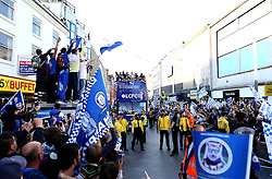 Leicester City take an open top bus tour of the city with the Premier League Trophy - Mandatory by-line: Robbie Stephenson/JMP - 16/05/2016 - FOOTBALL - Leicester City FC, Barclays Premier League Winners 2016 - Leicester City Victory Parade