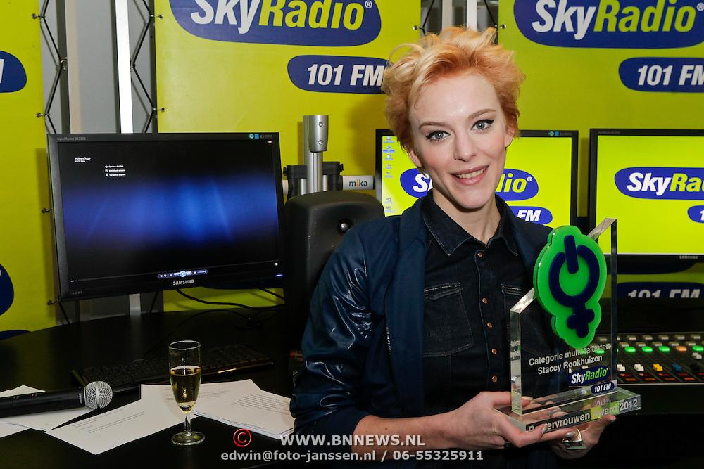 NLD/Naarden/20120307 - Uitriking Sky Radio Powervouwen Awards 2012, Stacey Rookhuizen