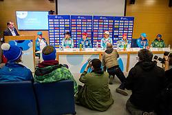 Enzo Smrekar during press conference of Slovenian Alpine Ski team after the end of the season 2016/17, on March 22, 2017 in Telekom Slovenije, Ljubljana, Slovenia. Photo by Vid Ponikvar / Sportida