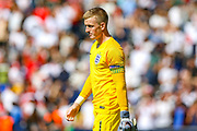 England goalkeeper Jordan Pickford (Everton) at full time during the UEFA Nations League 3rd place play-off match between Switzerland and England at Estadio D. Afonso Henriques, Guimaraes, Portugal on 9 June 2019.