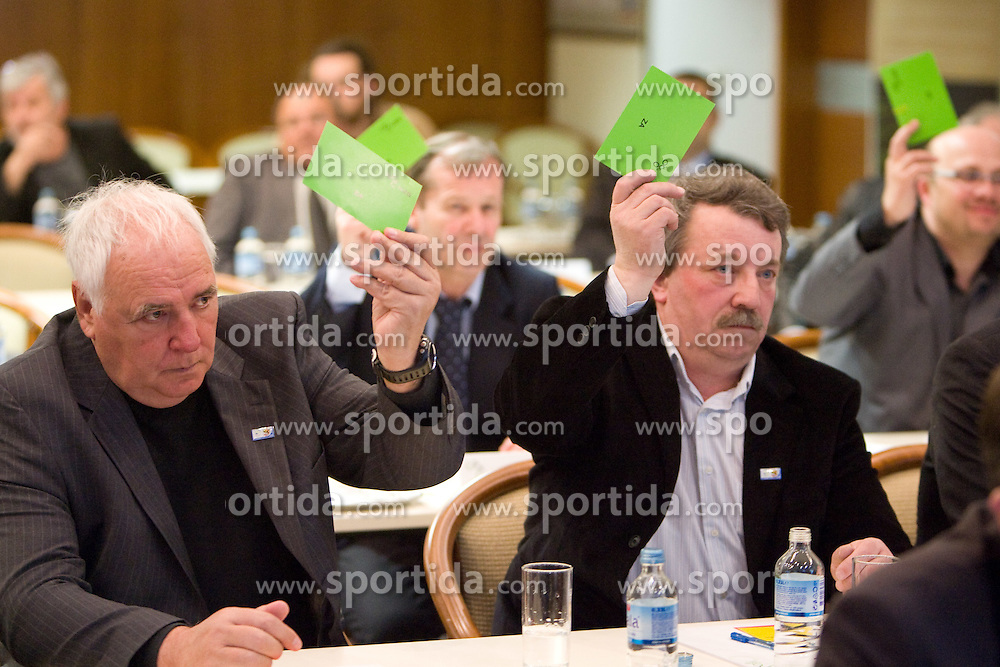at General Assembly of Slovenian Football Federation, on April 7, 2010,  at Brdo pri Kranju, Slovenia.  (Photo by Vid Ponikvar / Sportida)