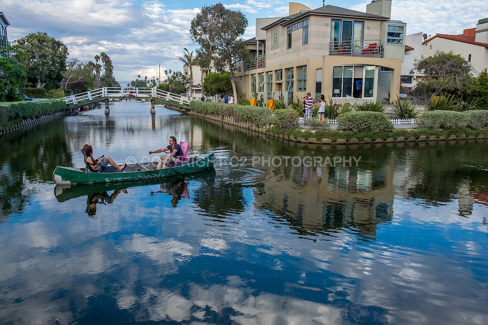 The Venice canals - Los Angeles, California.