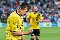 BREDA - NAC - Jong Ajax , Voetbal , Seizoen 2015/2016 , Jupiler league , Rat Verlegh Stadion , 21-08-2015 , NAC Breda speler Mats Seuntjens (l) scoort de 1-0