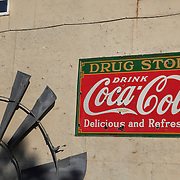 Coca Cola Drug Store Sign And Windmill Blades - Eldorado Canyon - Nelson NV