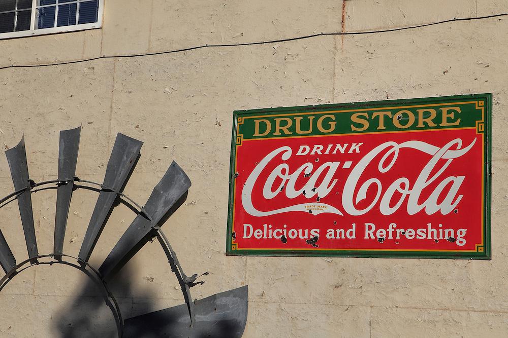 Coca Cola Drug Store Sign And Windmill Blades - Eldorado Canyon - Nelson NV