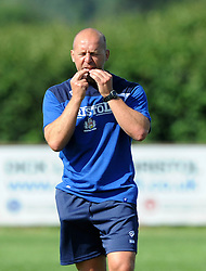 Bristol Rugby Head of Performance Mark Bennett whistles as Bristol Rugby return for Pre-Season Training ahead of the 15/16 Greene King IPA Championship season - Photo mandatory by-line: Dougie Allward/JMP - Mobile: 07966 386802 - 03/07/2015 - SPORT - Rugby - Bristol - Bristol Rugby Training Ground - Bristol Rugby Pre-Season Training
