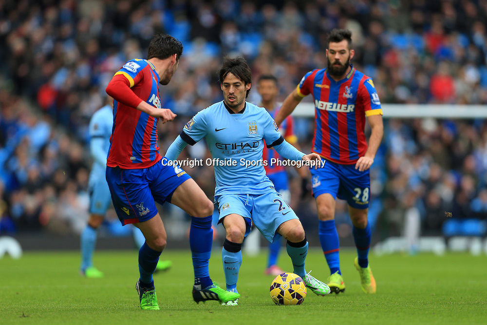 20th December 2014 - Barclays Premier League - Manchester City v Crystal Palace - David Silva of Man City - Photo: Simon Stacpoole / Offside.