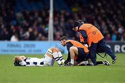 Jake Heenan of Bristol Bears is treated for an injury - Mandatory byline: Patrick Khachfe/JMP - 07966 386802 - 10/11/2019 - RUGBY UNION - Sandy Park - Exeter, England - Exeter Chiefs v Bristol Bears - Gallagher Premiership
