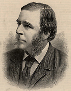 Robert Stawell Ball (1840-1913) Anglo-Irish astronomer, mathematician and populariser of science. Lord Rosse's astronomer at Parsonstown, Royal Astronomer for Ireland (1874-1892).  Engraving, 1886.