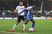 Wigan Athletic forward Gavin Massey on the ball during the EFL Sky Bet Championship match between Derby County and Wigan Athletic at the Pride Park, Derby, England on 5 March 2019.