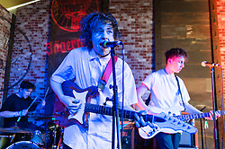 © Licensed to London News Pictures. 06/06/2015. London, UK.   Rat Boy performing live at Field Day Festival Saturday Day 1.  Rat Boy, real name Jordan Cardy, is a english musician producing a combination of indie rock and hip hop music.  Photo credit : Richard Isaac/LNP