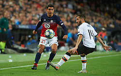 November 5, 2019, Valencia, Valencia, Spain: Jose Luis Gaya of Valencia and Benjamin Andre of Losc Lille during the during the UEFA Champions League group H match between Valencia CF and Losc Lille at Estadio de Mestalla on November 5, 2019 in Valencia, Spain (Credit Image: © AFP7 via ZUMA Wire)