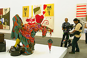 """Yinka Shonibare/England, installation """"Gallantry and Criminal Conversation"""" (2002).Old Binding Brewery exhibition site.."""