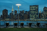 USA, New York, Long Island City, Queens, Gantry Plaza State Park
