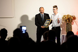 Alojz Kovsca and Tim during Slovenian Disabled Sports personality of the year 2019 event, on January 21, 2020 in Austria Trend Hotel, Ljubljana, Slovenia. Photo by Vid Ponikvar / Sportida