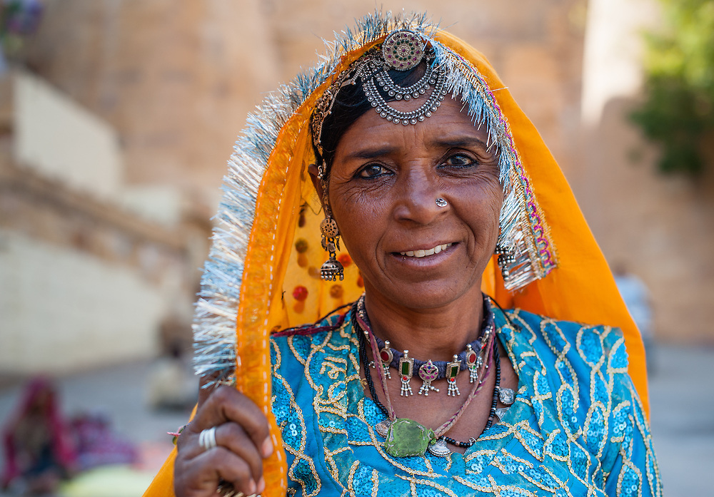 Rajasthani tribal woman (India)