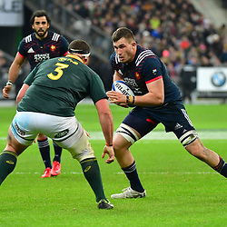(R-L) Paul Jedrasiak of France takes on Wilco Louw of South Africa during the test match between France and South Africa at Stade de France on November 18, 2017 in Paris, France. (Photo by Dave Winter/Icon Sport)