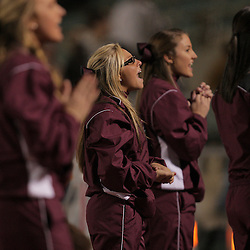 21 November 2008:  A cheerleader performs during the St. Thomas Aquinas Falcons 28-0 shutout victory over the Homer Pelicans in round two of the Class 2A prep football playoff game played at Strawberry Stadium in Hammond, LA..
