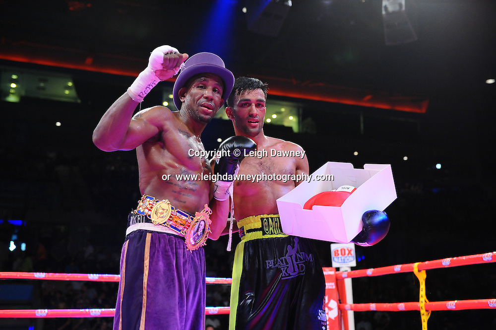 Darren Hamilton defeats Adil Anwar for the British Light Welterweight Title at the Echo Arena, Liverpool on 6th July 2013. Credit: © Leigh Dawney Photography. Self Billing where applicable. Tel: 07812 790920