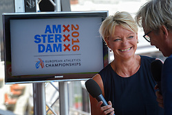 """06-07-2015 NED: Presentatie EK Atletiek """"One year to go"""", Amsterdam<br /> Kick off  EK Atletiek 2016 in het Olympische stadion Amsterdam. Over 1 jaar zal het EK Atletiek plaats vinden / Ellen van Langen"""