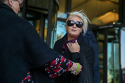 © Licensed to London News Pictures. 22/10/2019. London, UK. CHARLOTTE CHARLES, mother of a British teenager killed in a car crash involving a U.S. diplomat's wife arrives in Portcullis House, Westminster. Photo credit: Dinendra Haria/LNP