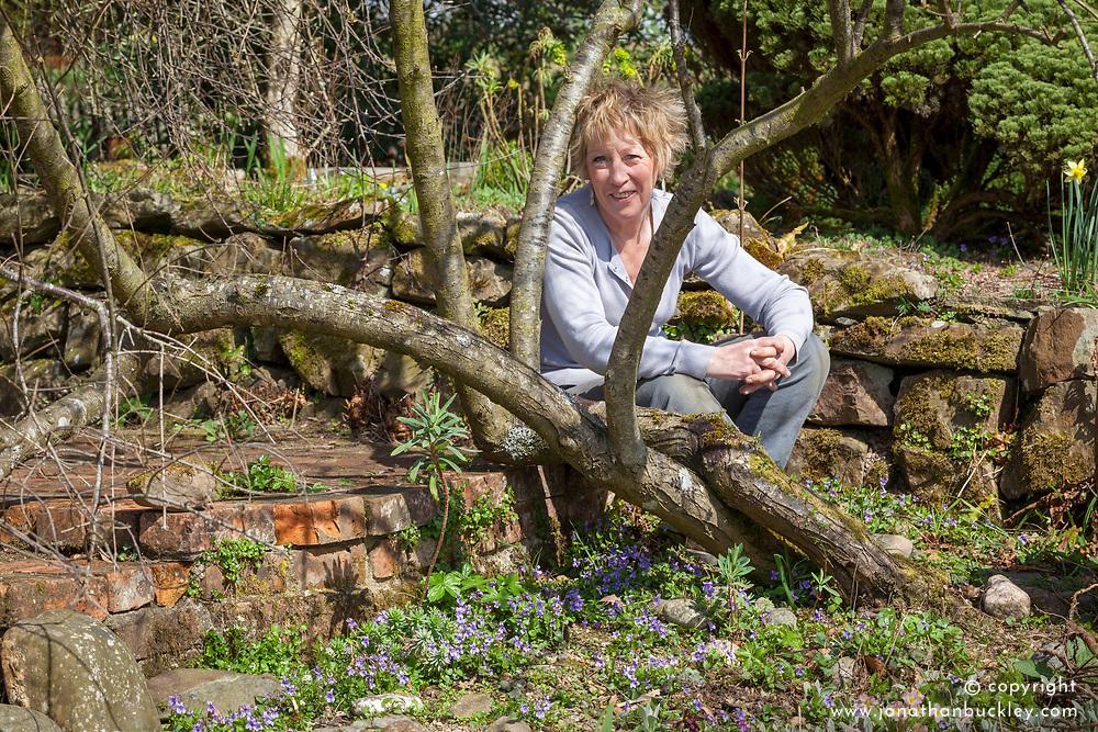 Carol Klein with violets