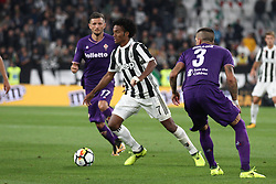 September 20, 2017 - Turin, Italy - Juventus midfielder Juan Cuadrado (7) in action during the Serie A football match n.5 JUVENTUS - FIORENTINA on 20/09/2017 at the Allianz Stadium in Turin, Italy. (Credit Image: © Matteo Bottanelli/NurPhoto via ZUMA Press)