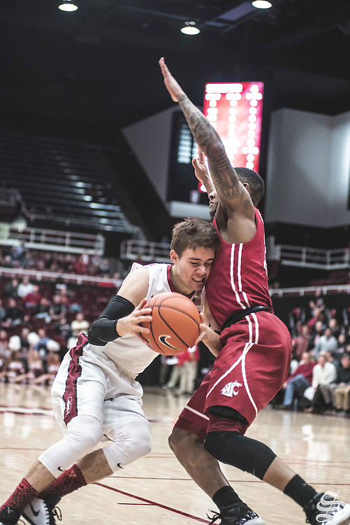 Robert Cartwright #2 vs. Washington State on January 12, 2017 at Maples Pavilion in Stanford, CA. Photo by Ryan Jae.
