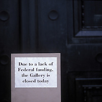 National Gallery closed due to government shutdown in 1990