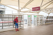 UNITED KINGDOM, London: 27 May 2016 Spiderman waits for friends at The ExCeL Centre. The comic convention will see an estimated 150,000 cosplay and comic fans flock to the exhibition. Rick Findler / Story Picture Agency