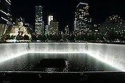 National september 11 memorial (ground zero) New York city, Downtown Manhattan,