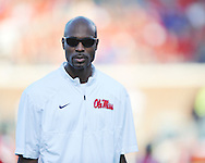 Ole Miss assistant coach Grant Heard at Vaught-Hemingway Stadium in Oxford, Miss. on Saturday, September 27, 2014.