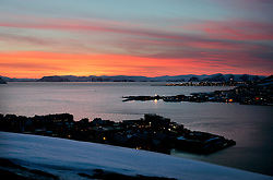 NORWAY HAMMERFEST 23MAR07 - Arctic landscape in Hammerfest, the world's most northerly town...jre/Photo by Jiri Rezac..© Jiri Rezac 2007..Contact: +44 (0) 7050 110 417.Mobile:  +44 (0) 7801 337 683.Office:  +44 (0) 20 8968 9635..Email:   jiri@jirirezac.com.Web:    www.jirirezac.com..© All images Jiri Rezac 2007 - All rights reserved.
