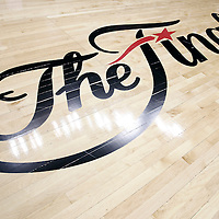 12 June 2012: The NBA Finals Logo is seen on the court prior to Game 1 of the 2012 NBA Finals between the Heat and the Thunder, at the Chesapeake Energy Arena, Oklahoma City, Oklahoma, USA.