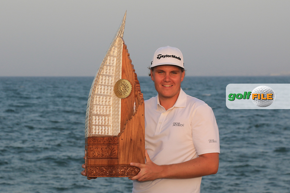 Sami Valimaki (FIN) winner of the Oman Open 2020 at the Al Mouj Golf Club, Muscat, Oman . 01/03/2020<br /> Picture: Golffile | Thos Caffrey<br /> <br /> <br /> All photo usage must carry mandatory copyright credit (© Golffile | Thos Caffrey)