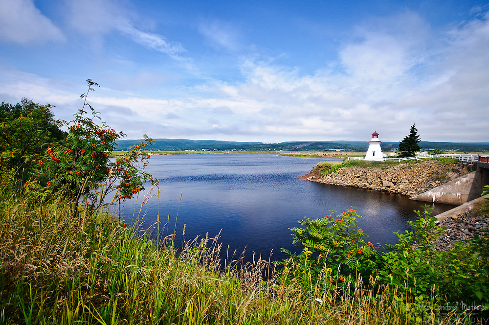 The Anderson Hollow Lighthouse was relocated to the Harvey Bank area of Mary's Point in 2001 where it overlooks the Shepody Bay