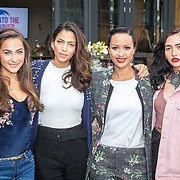NLD/Amsterdam/20171026 - Perspresentatie Into the Waves 2017, Nochtli Peralta Alvarez, Touriya Haoud, Sonja Silva en Christina Curry