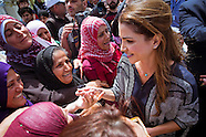 Queen Rania Visit Refugee Camp, Lesbos, Greece